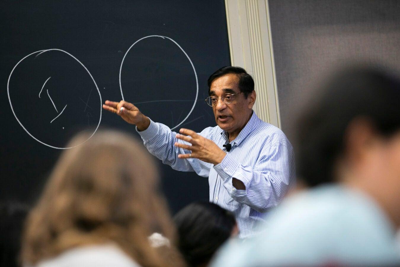 Ali Asani teaches during class.