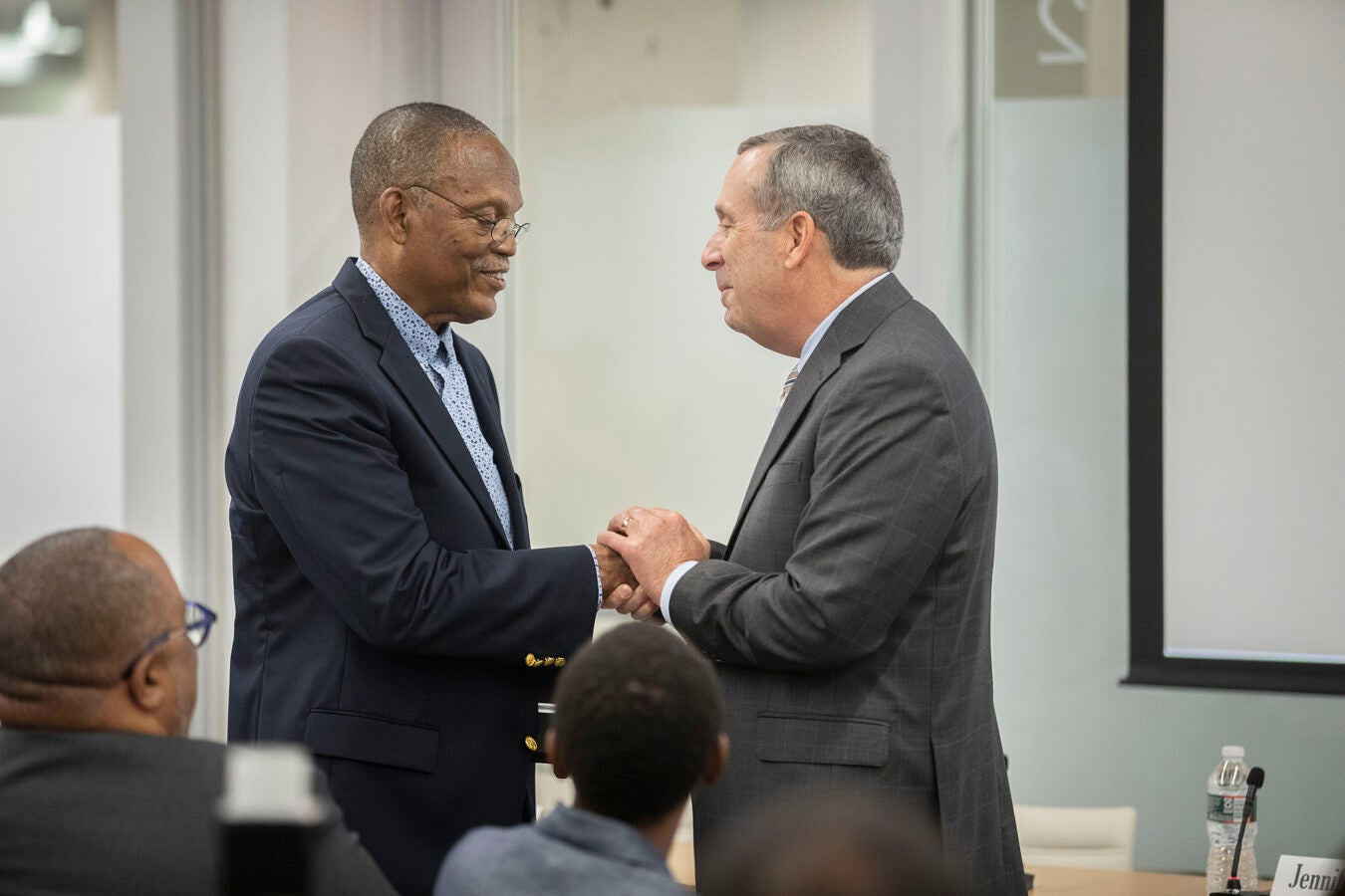 Harvard University President Lawrence Bacow, praises William Julius Wilson