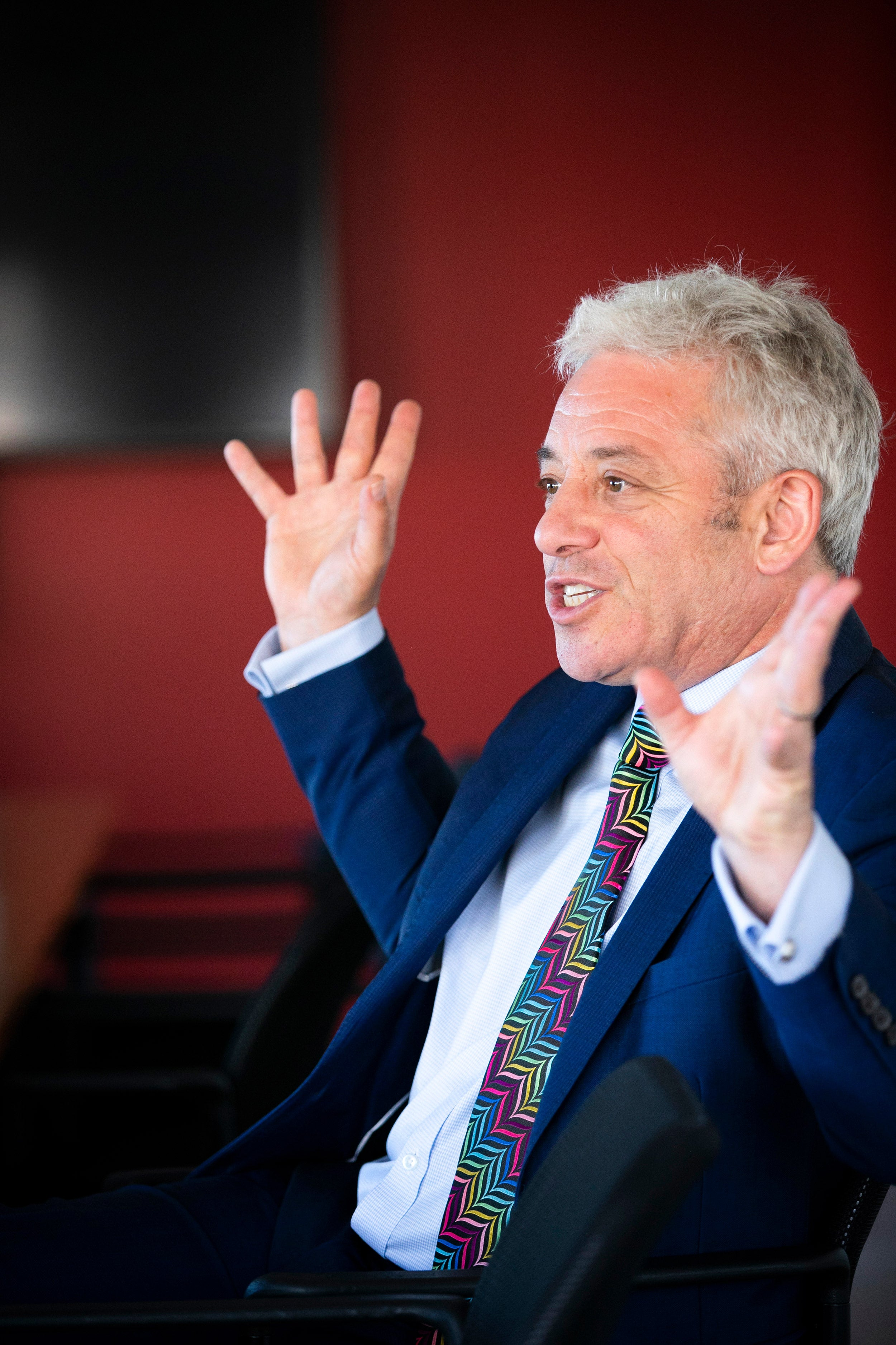 Speaker of the House of Commons John Bercow visits Harvard's campus