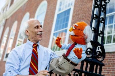 Blatt with his muppet