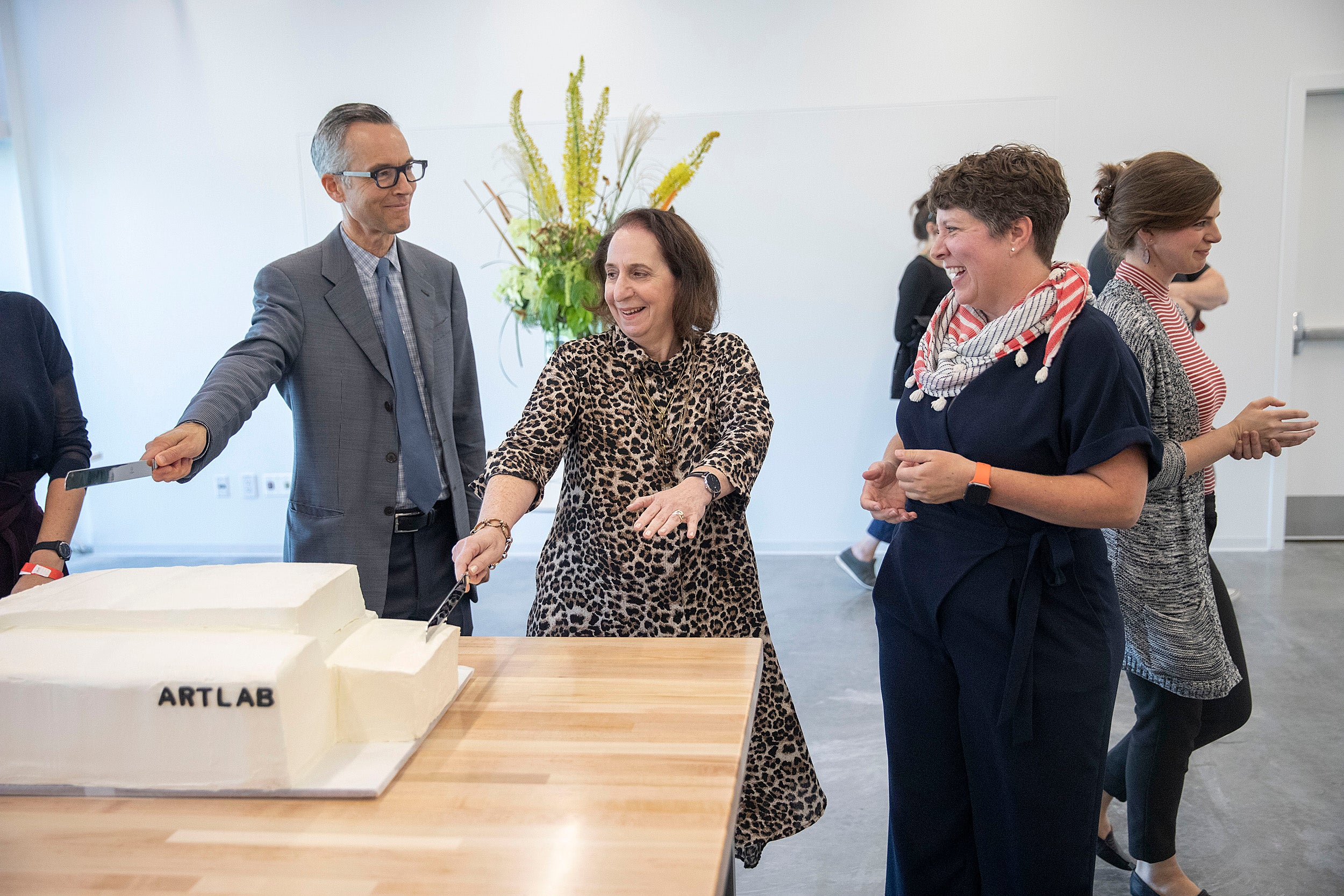 Cake cutting at the ArtLab