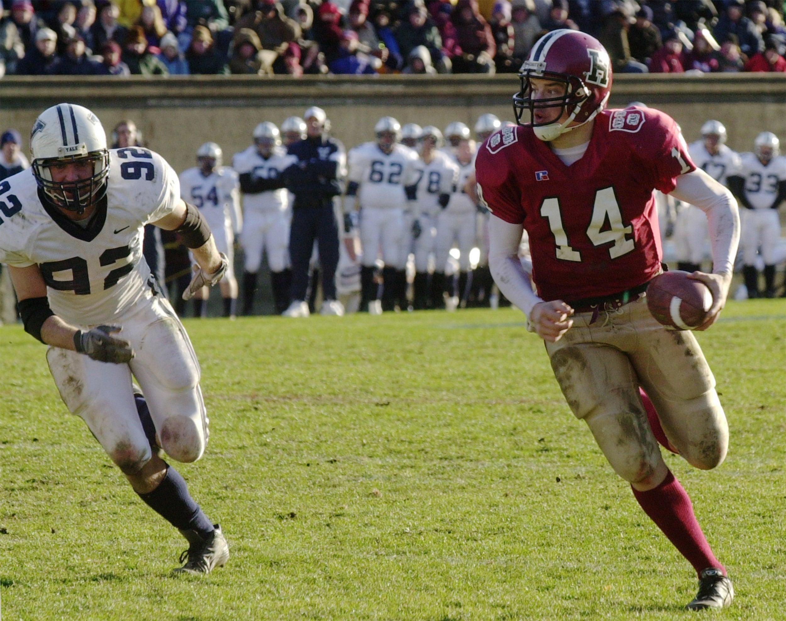 Harvard quarterback Ryan Fitzpatrick
