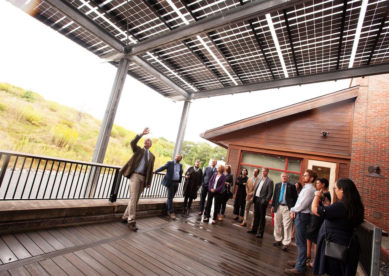 Solar awning at Arboretum