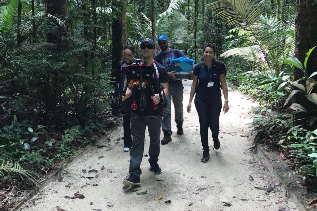 Drone team in the jungle