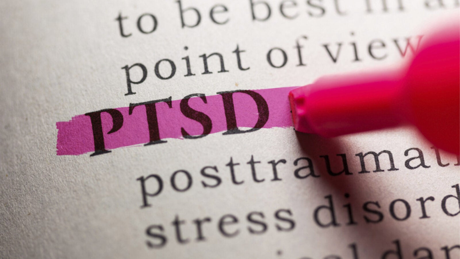 PTSD marked in book