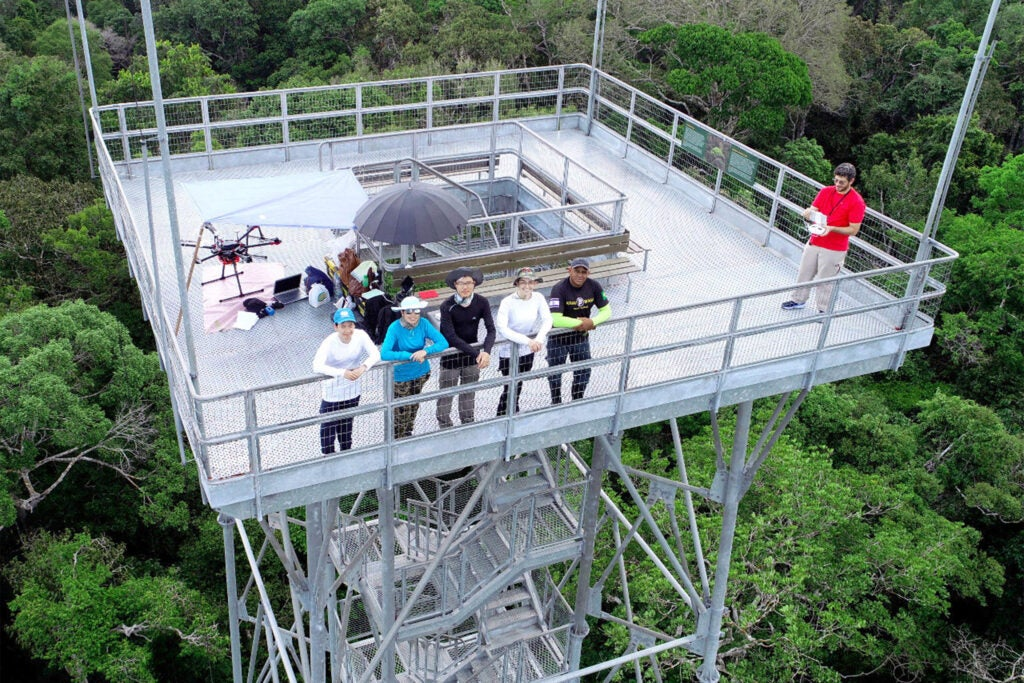 Drone team on the tower