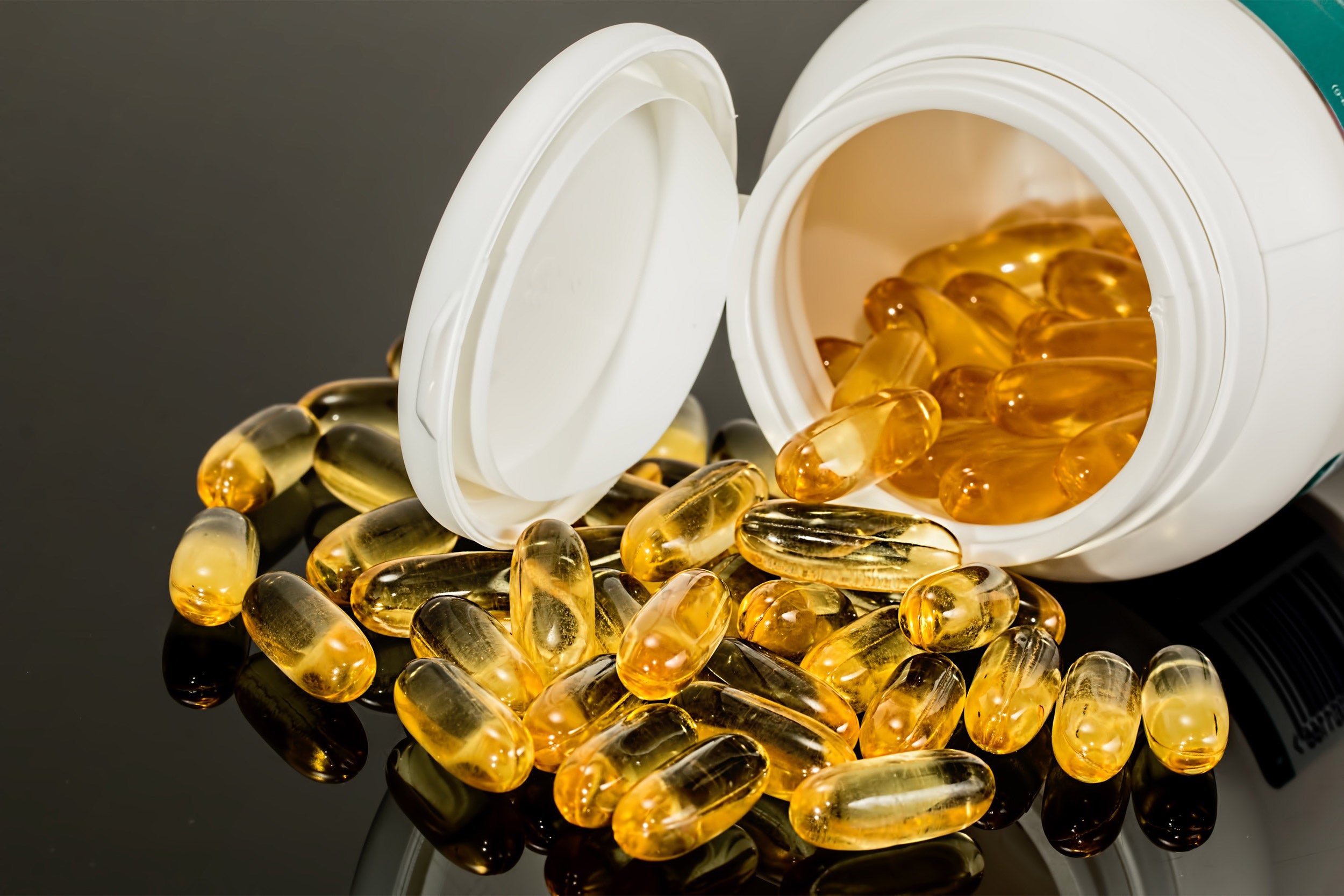 Capsules of fish oil