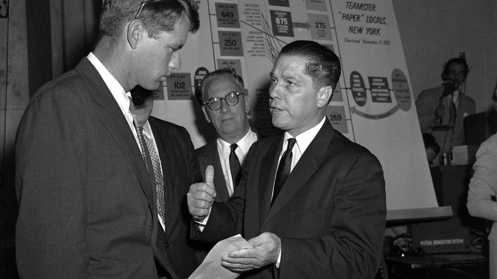 James Hoffa speaks with Robert F. Kennedy