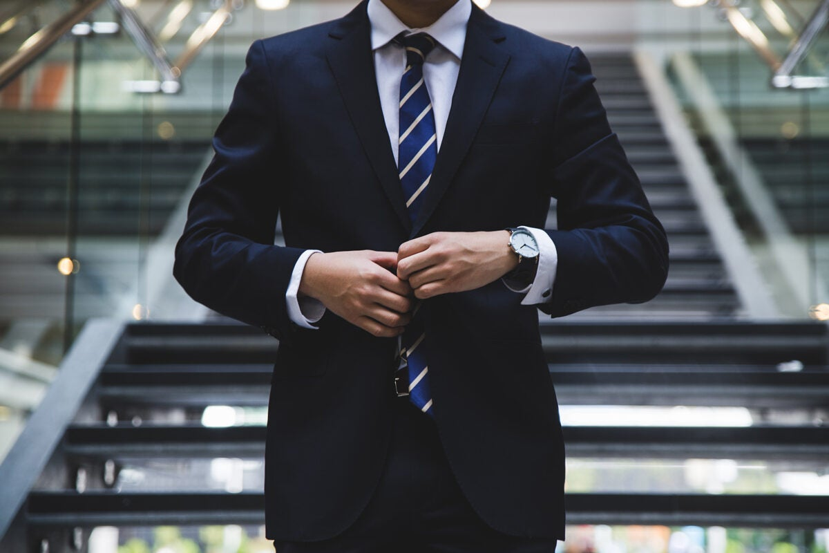 Businessperson in a suit