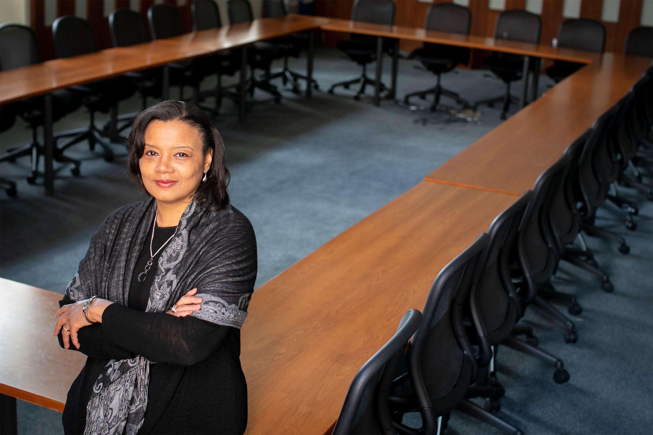 Tomiko Brown-Nagin in a conference room
