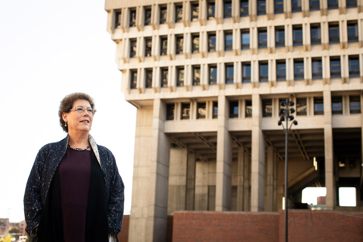 Liz Cohen at City Hall Plaza