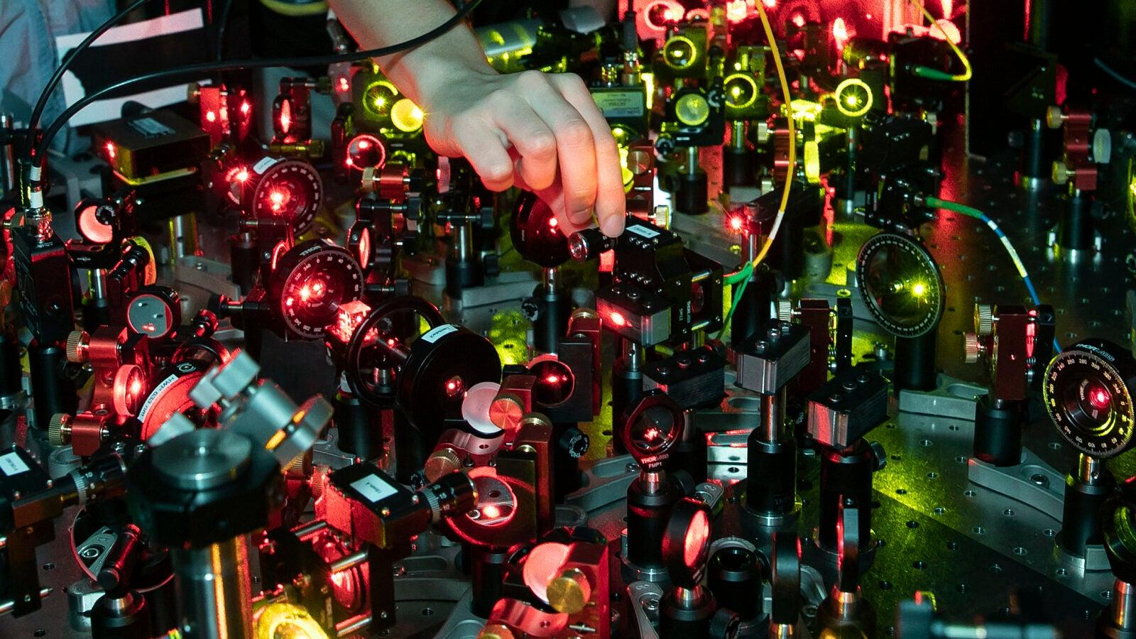 optical tweezers in use