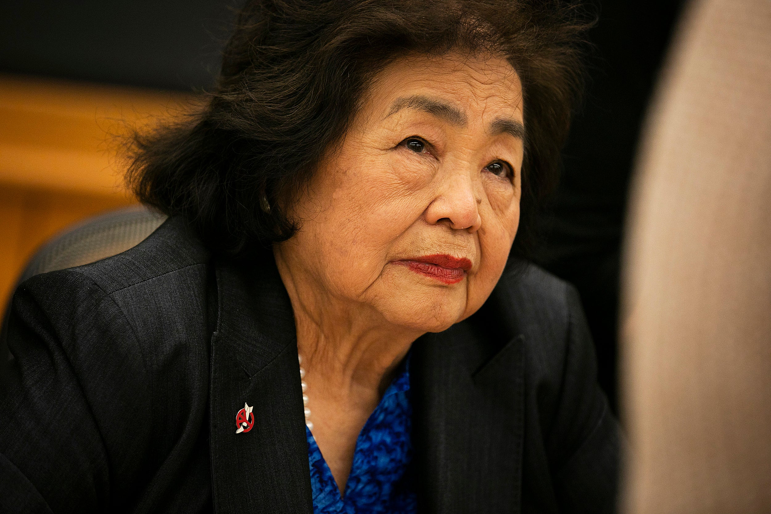 Setsuko Thurlow, a survivor of the Hiroshima nuclear bombing,