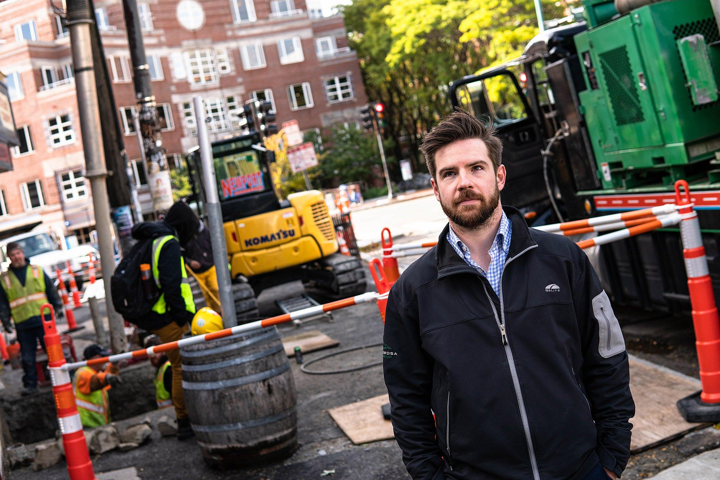 Patrick Behrer in Harvard Square.