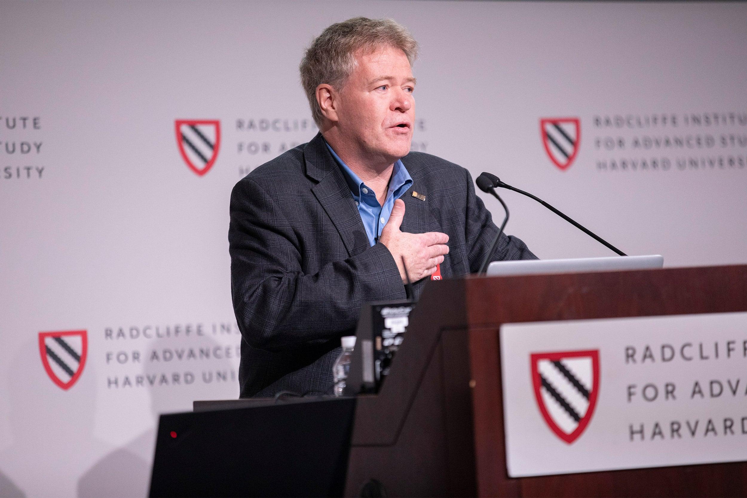 Sylvain Moineau speaking about CRISPR gene editing.