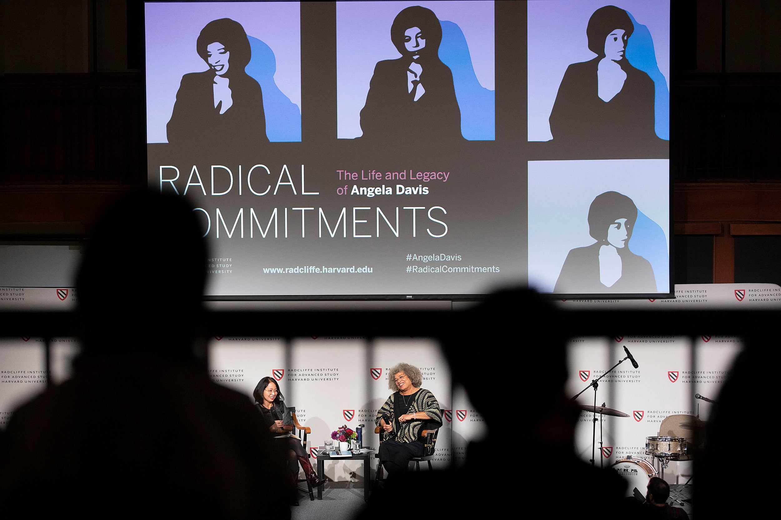 "Angela Davis and Neferti X. M. Tadiar, Columbia University speak during ""Radical Commitments: The Life and Legacy of Angela Davis"""