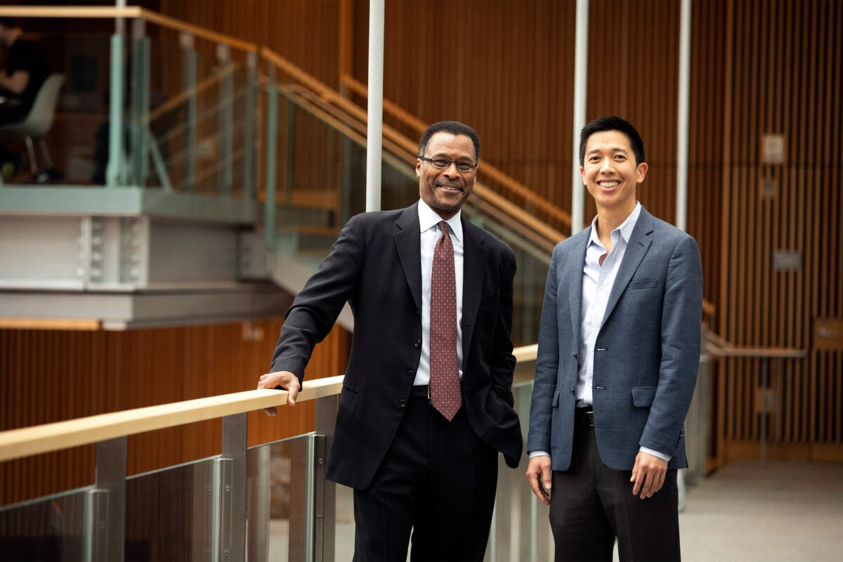 John Silvanus Wilson and Andrew Ho pictured at Smith Campus Center.