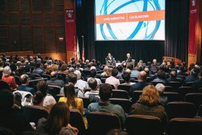 Len Blavatnik and Harvard Corporation member David Rubenstein