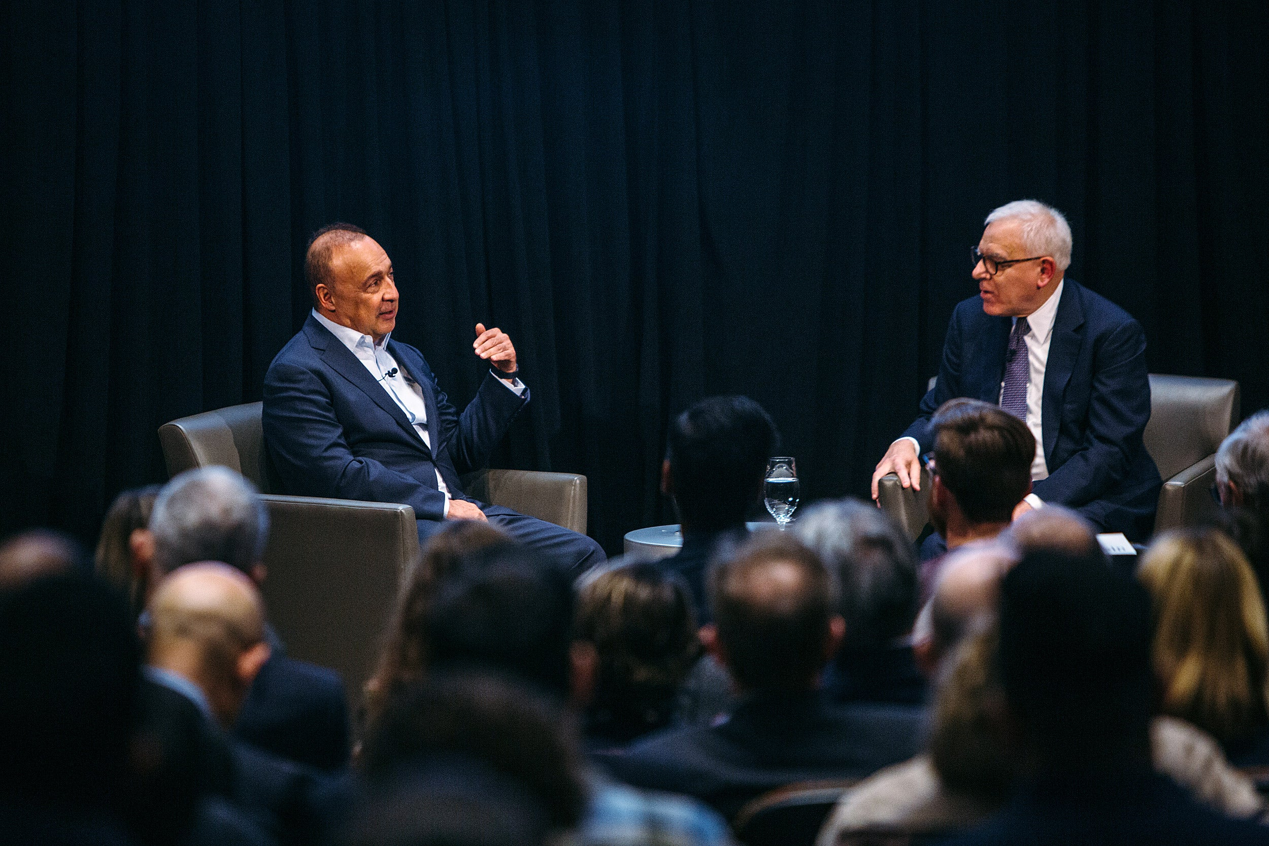 Len Blavatnik and Harvard Corporation member David Rubenstein