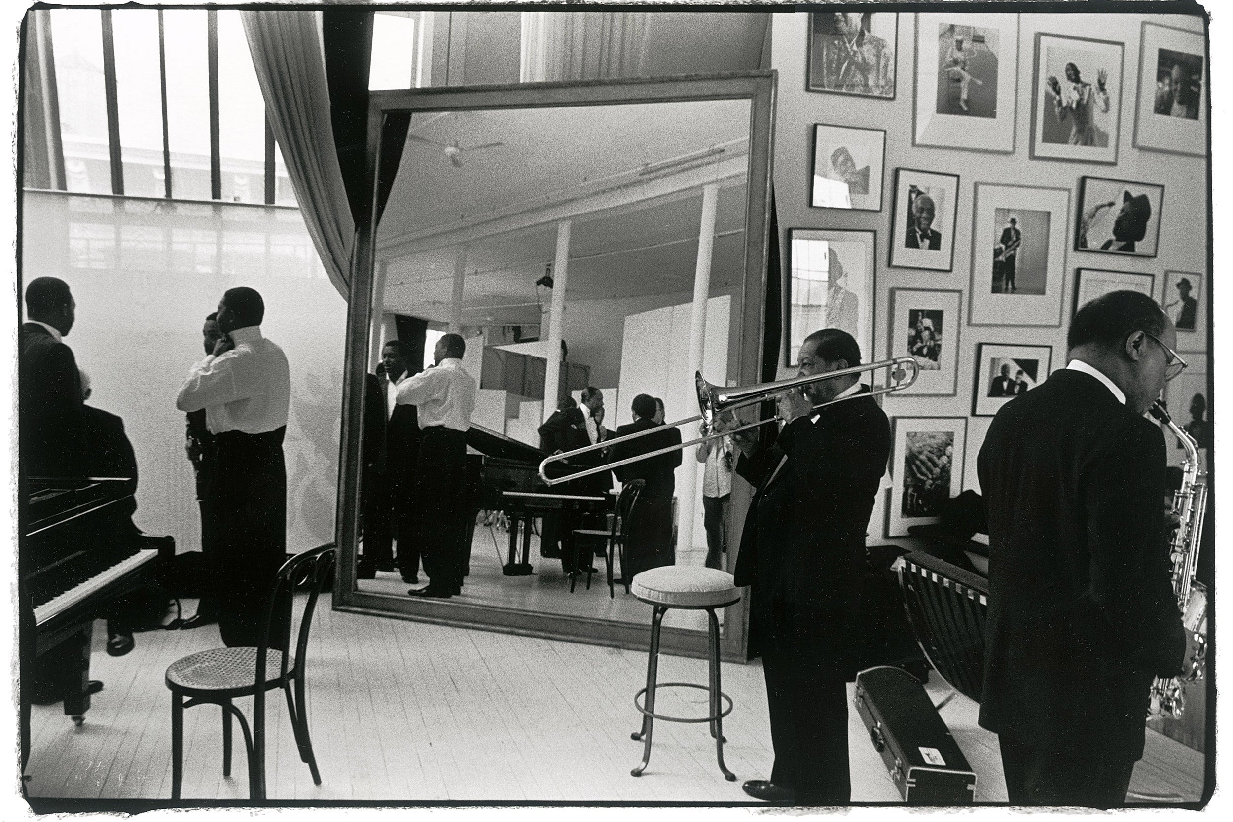 Lincoln Center room with musicians