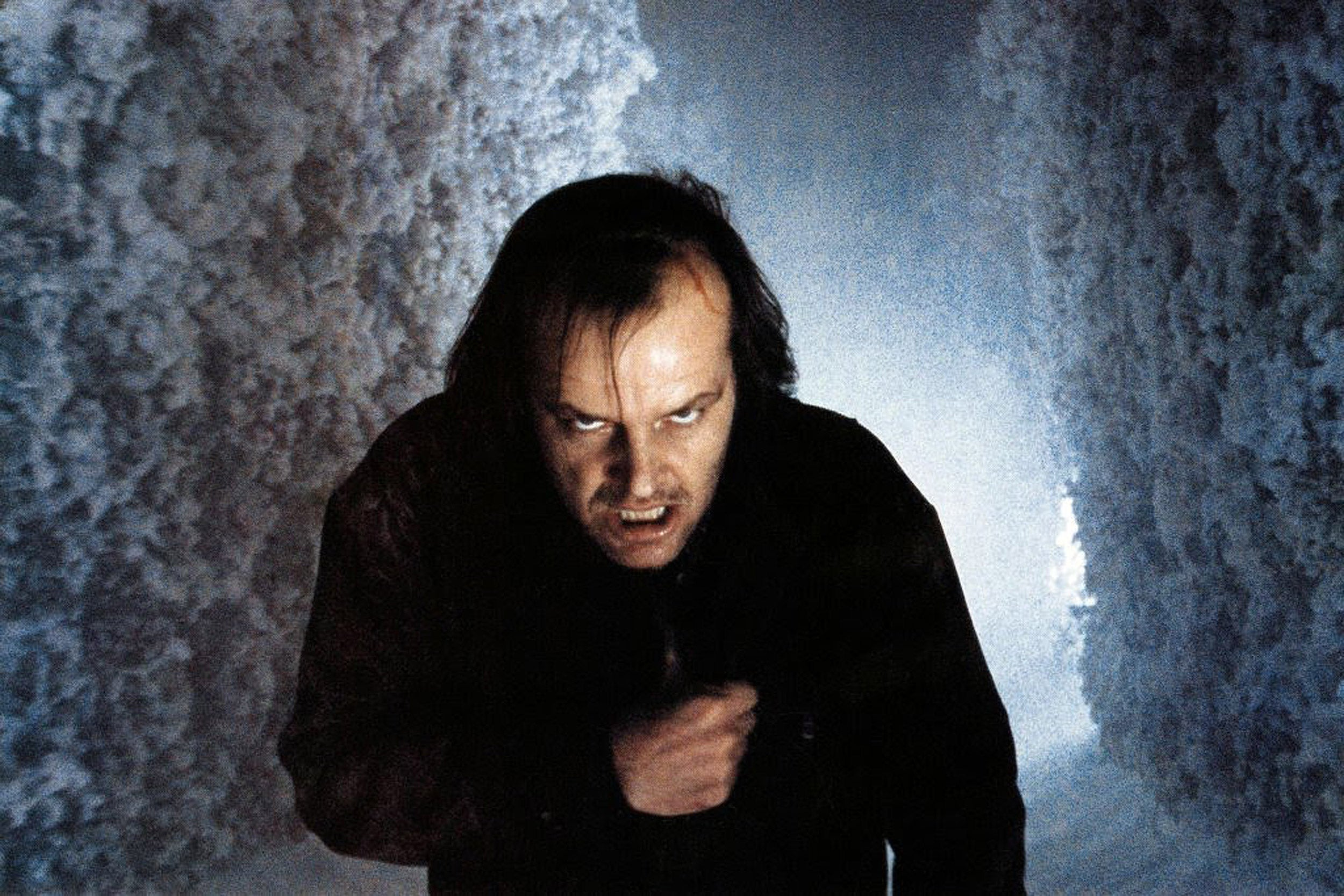 "Jack Nicholson in a scene from ""The Shining."""