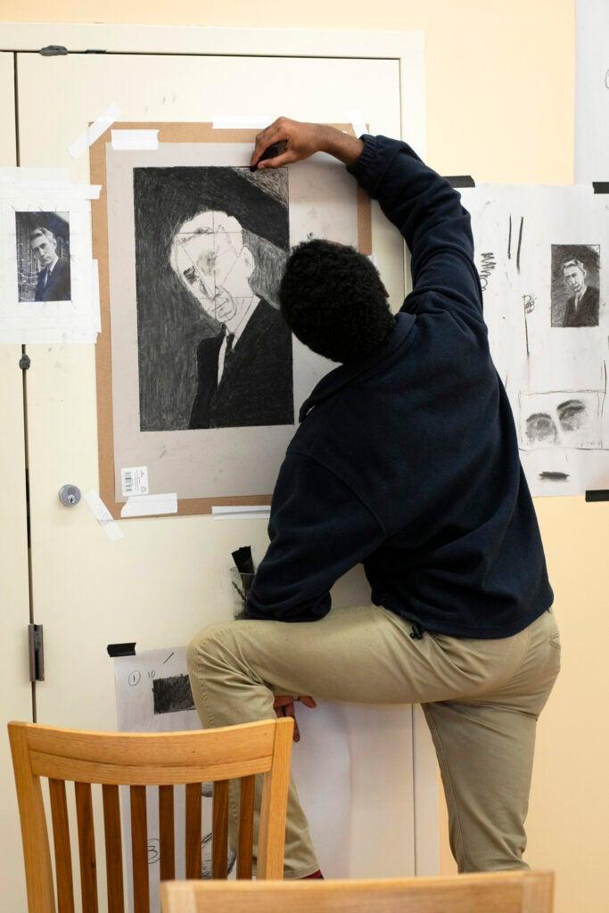 Anthony Munson draws Claude Shannon.