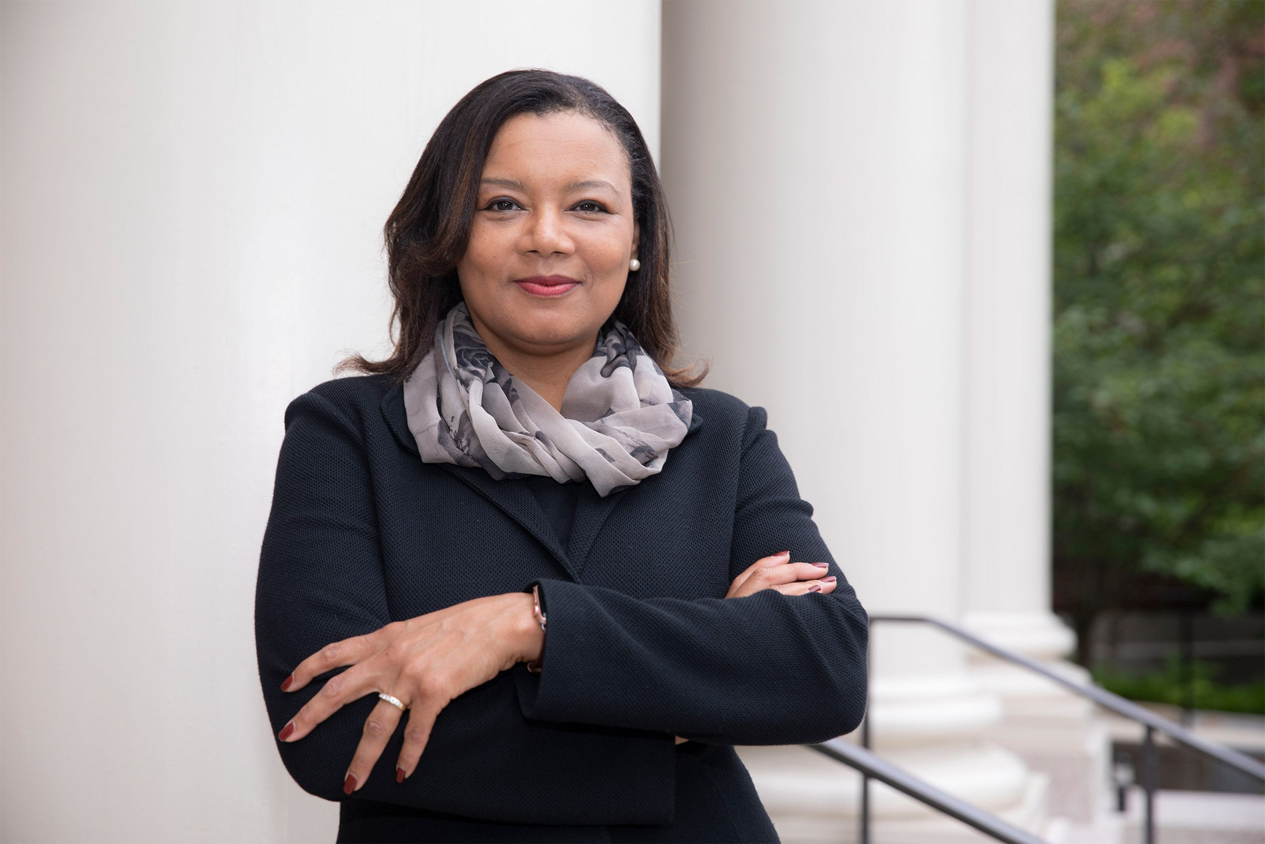 Tomiko Brown-Nagin, Dean of Harvard's Radcliffe Institute for Advanced Study is seen at Agassiz House.