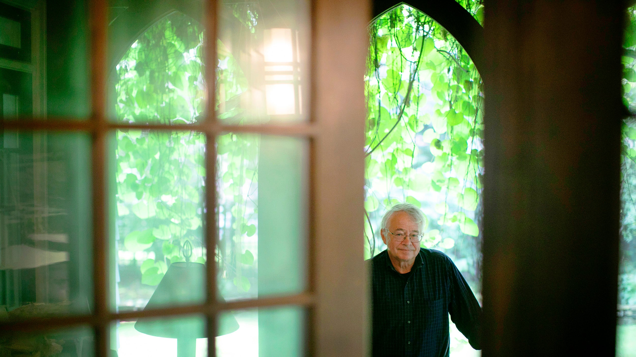 Stephen Coit, the artist of the Harvard Foundation Portraiture Project, is pictured in his Cambridge home.