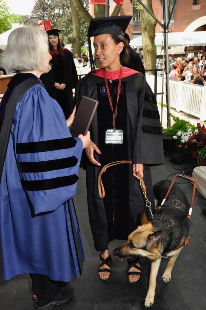 Haben Girma receives her diploma