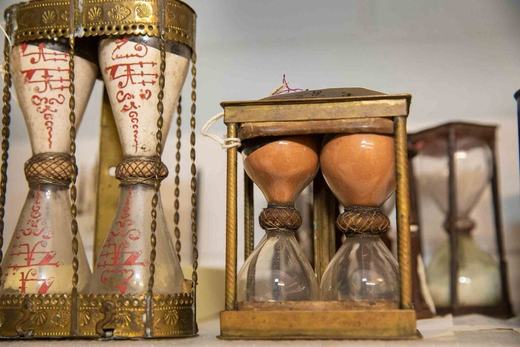 Picture of 17th century sand glasses