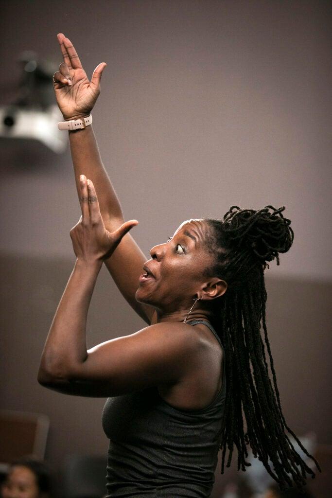 Aysha Upchurch dances during Hip Hop Class.
