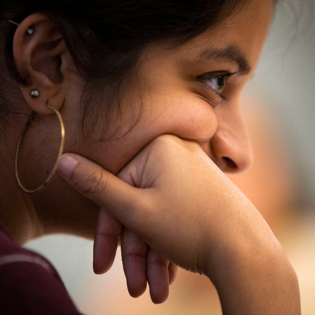 Meena Vankataramanan is pictured during class.