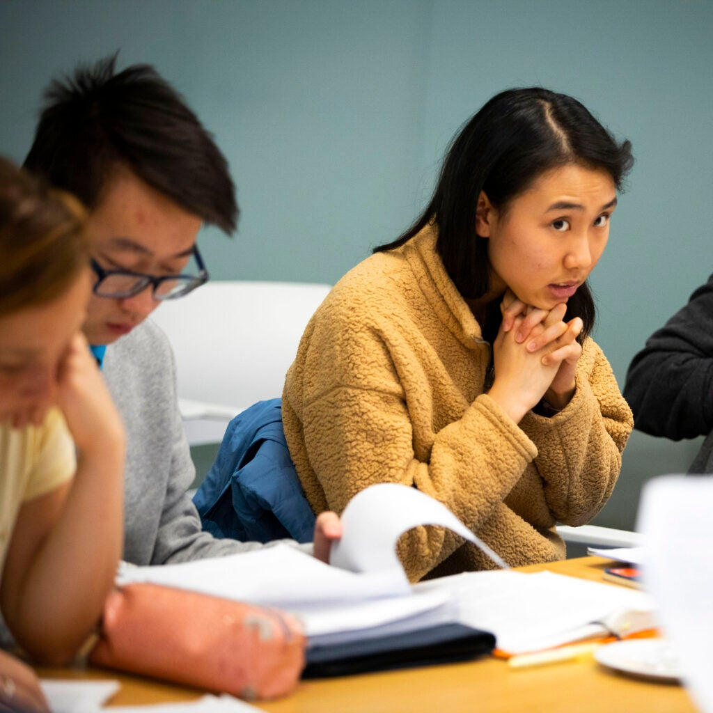 Katherine Li is pictured during class.