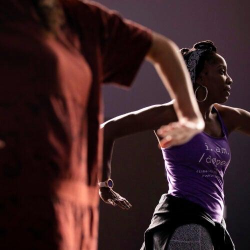 Aysha Upchurch teaches Hip Hop Dance in Farkas Hall.