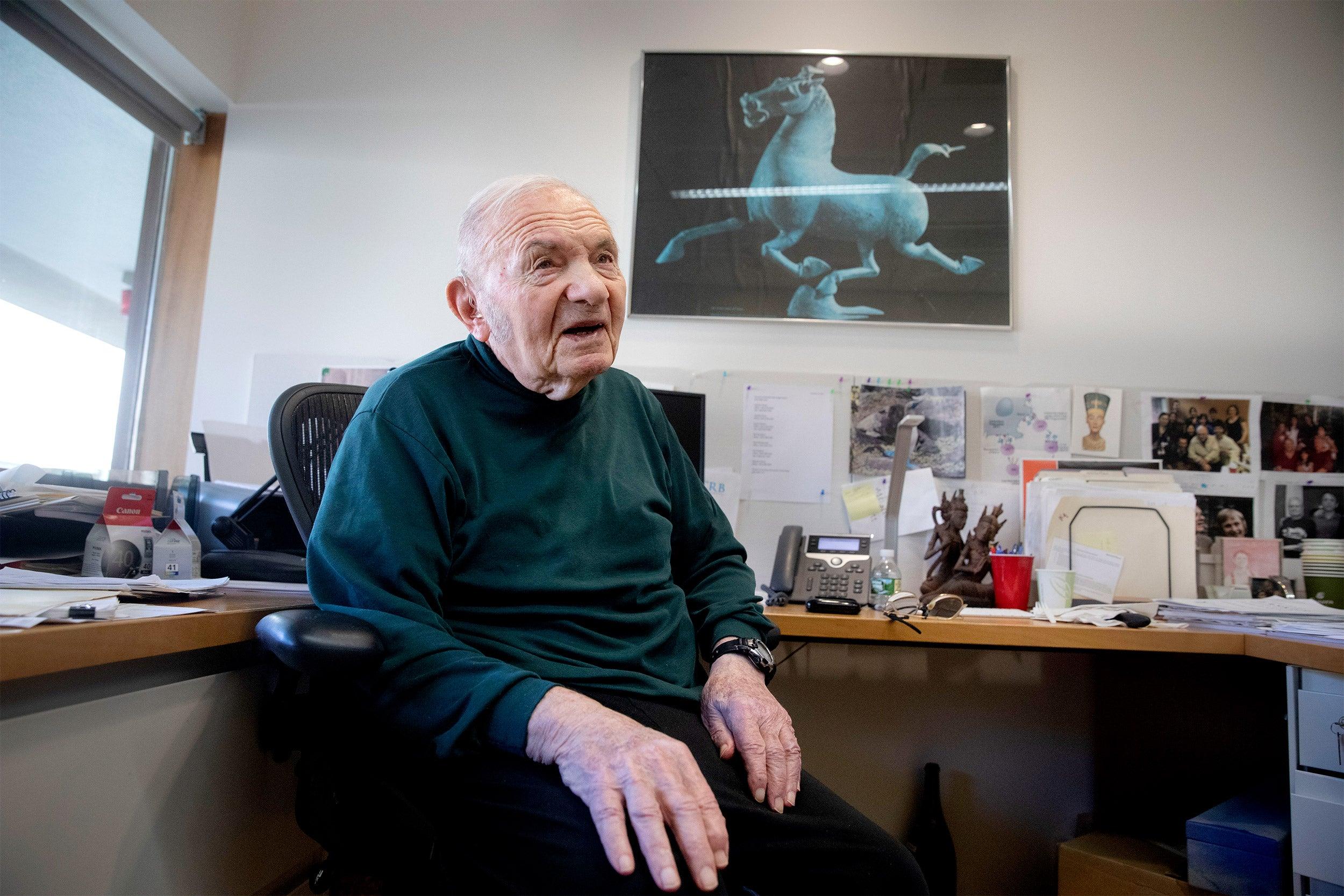 Jack Strominger in his office.