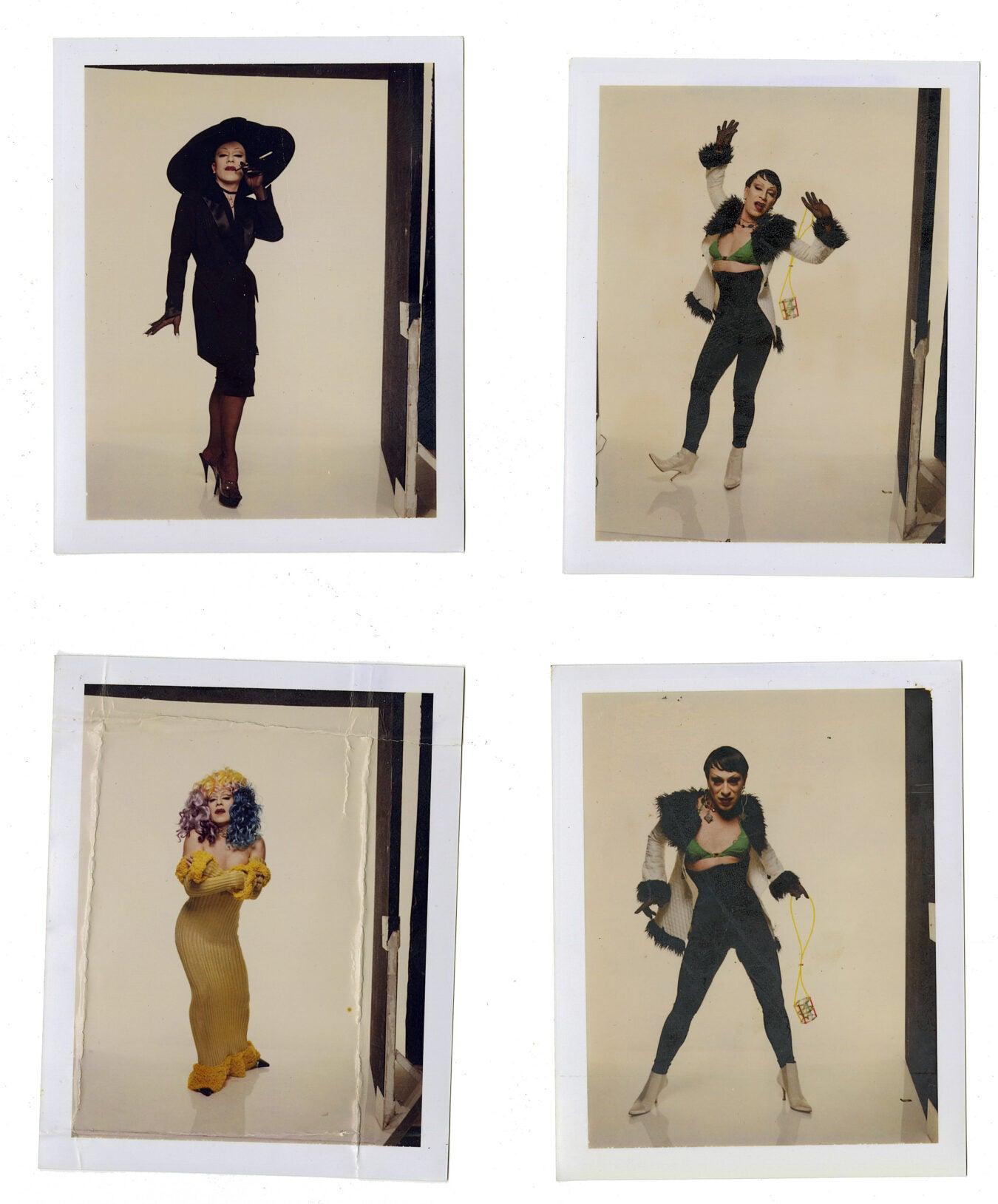 Four Polaroids of Joey Arias.