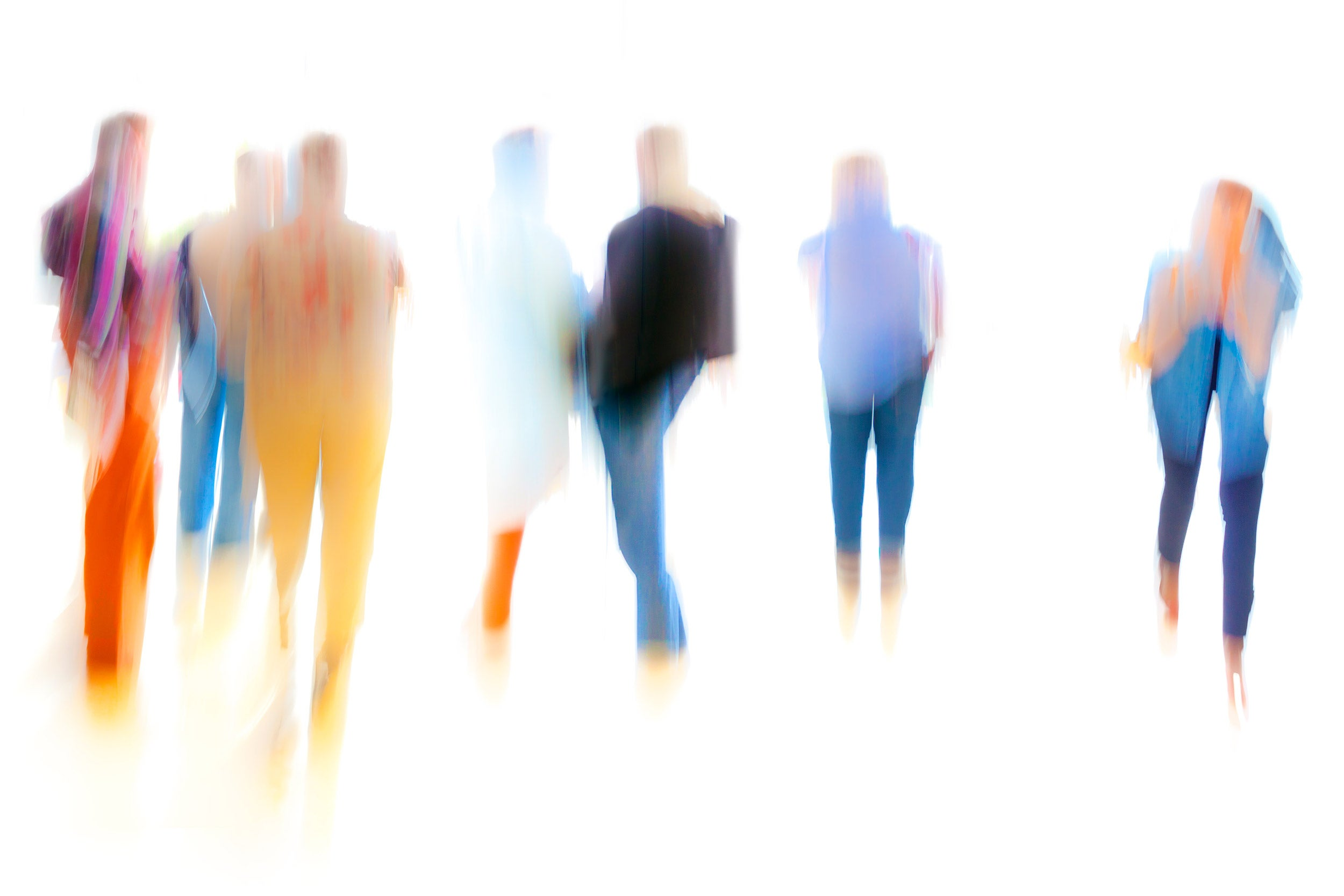 Abstract Blurred Group of People