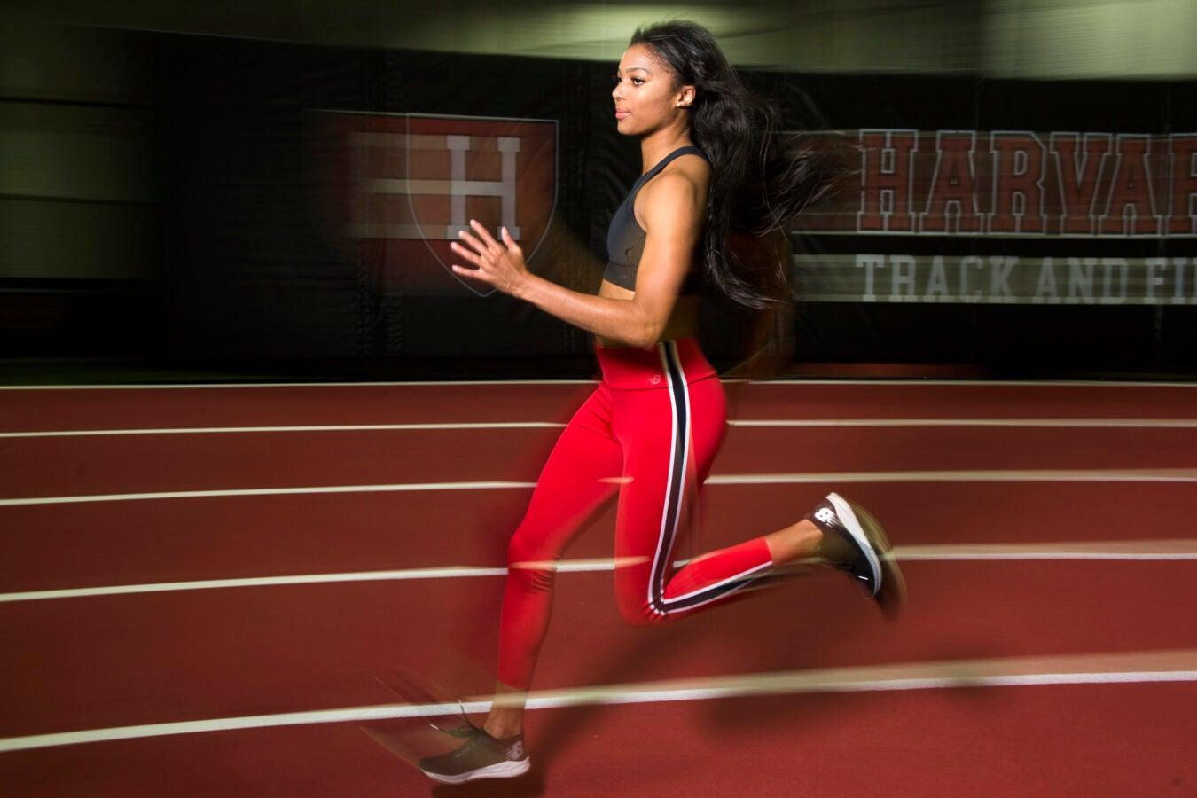Athlete running.