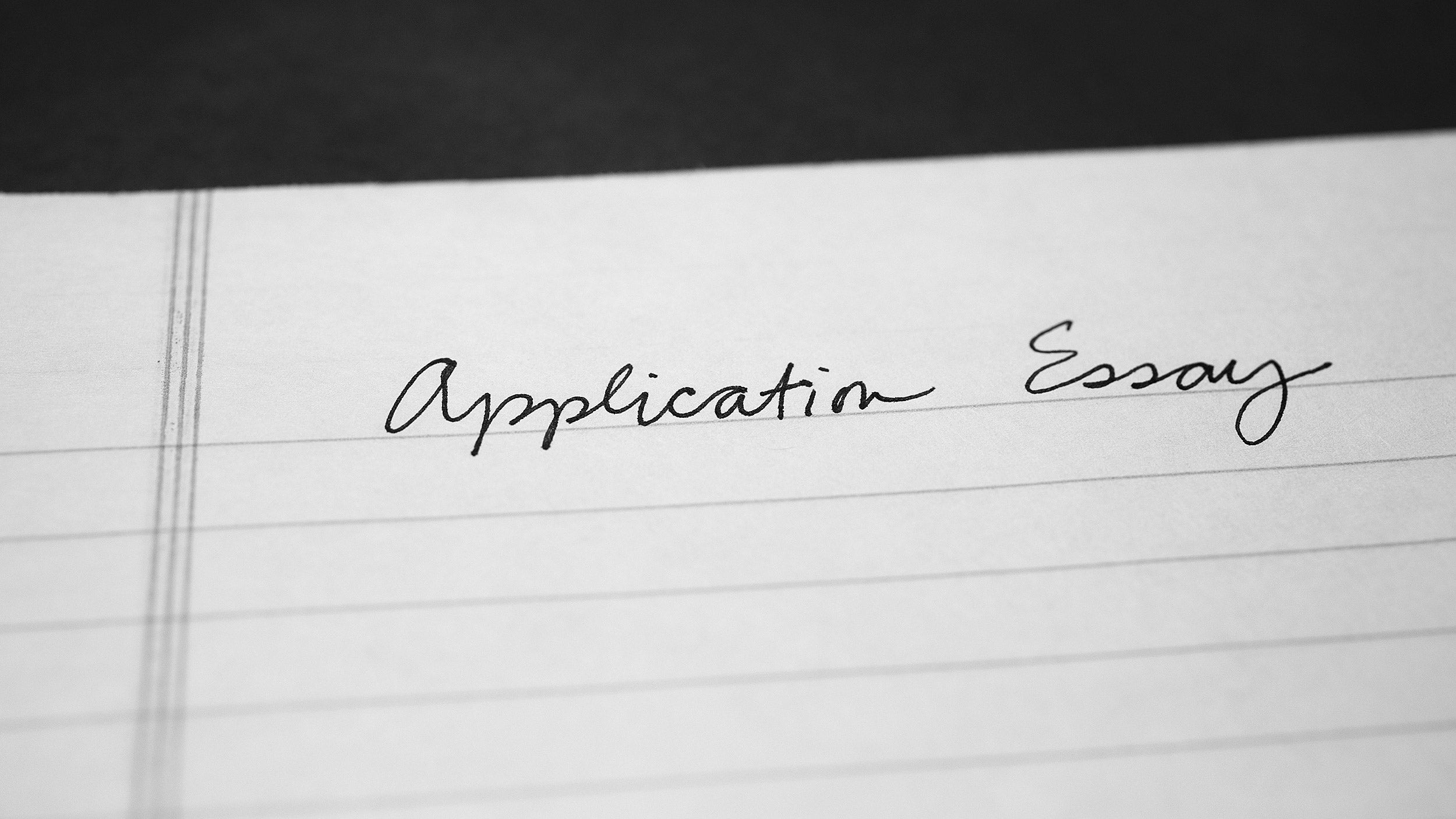 Application essay.
