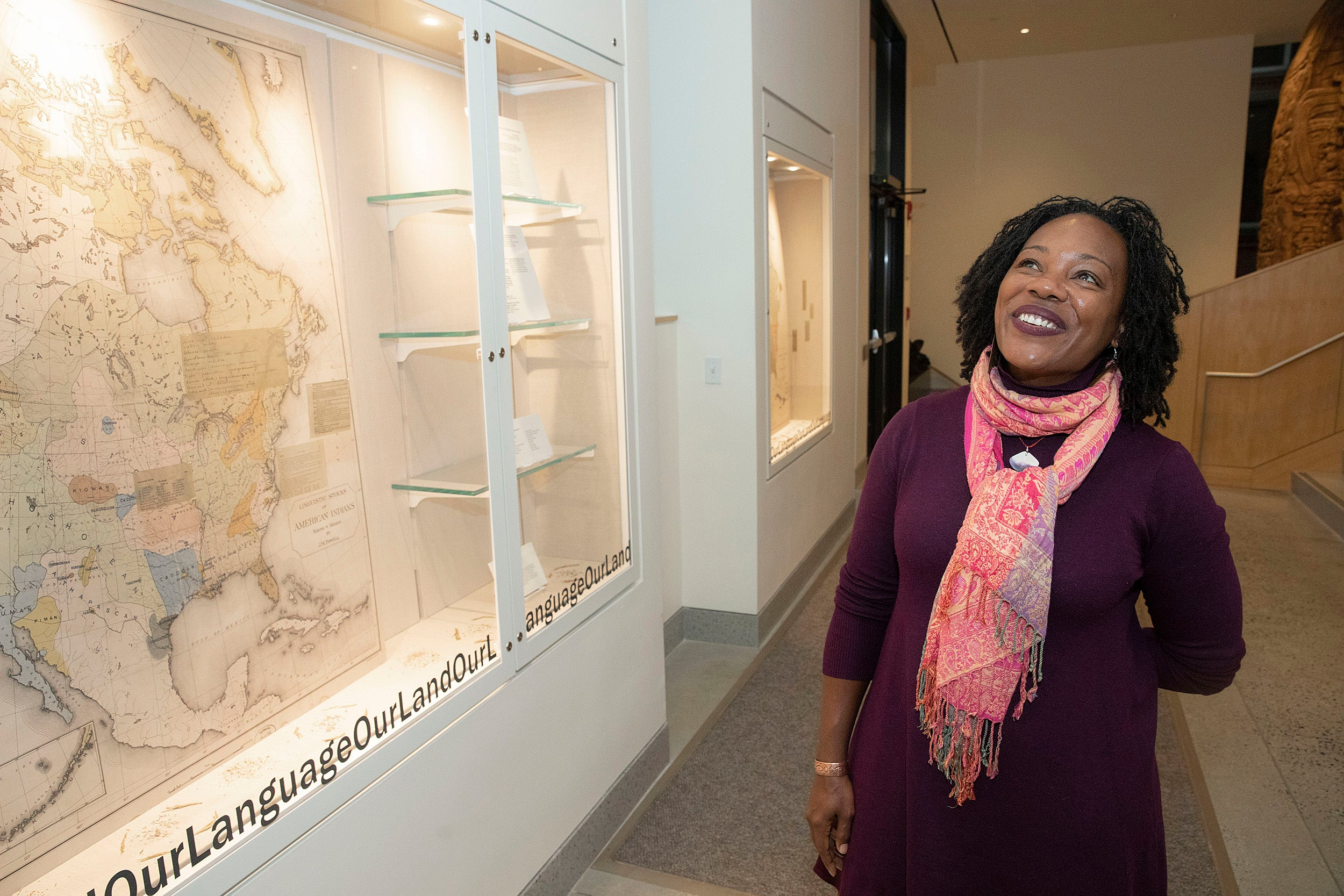 Sadada Jackson with exhibit.