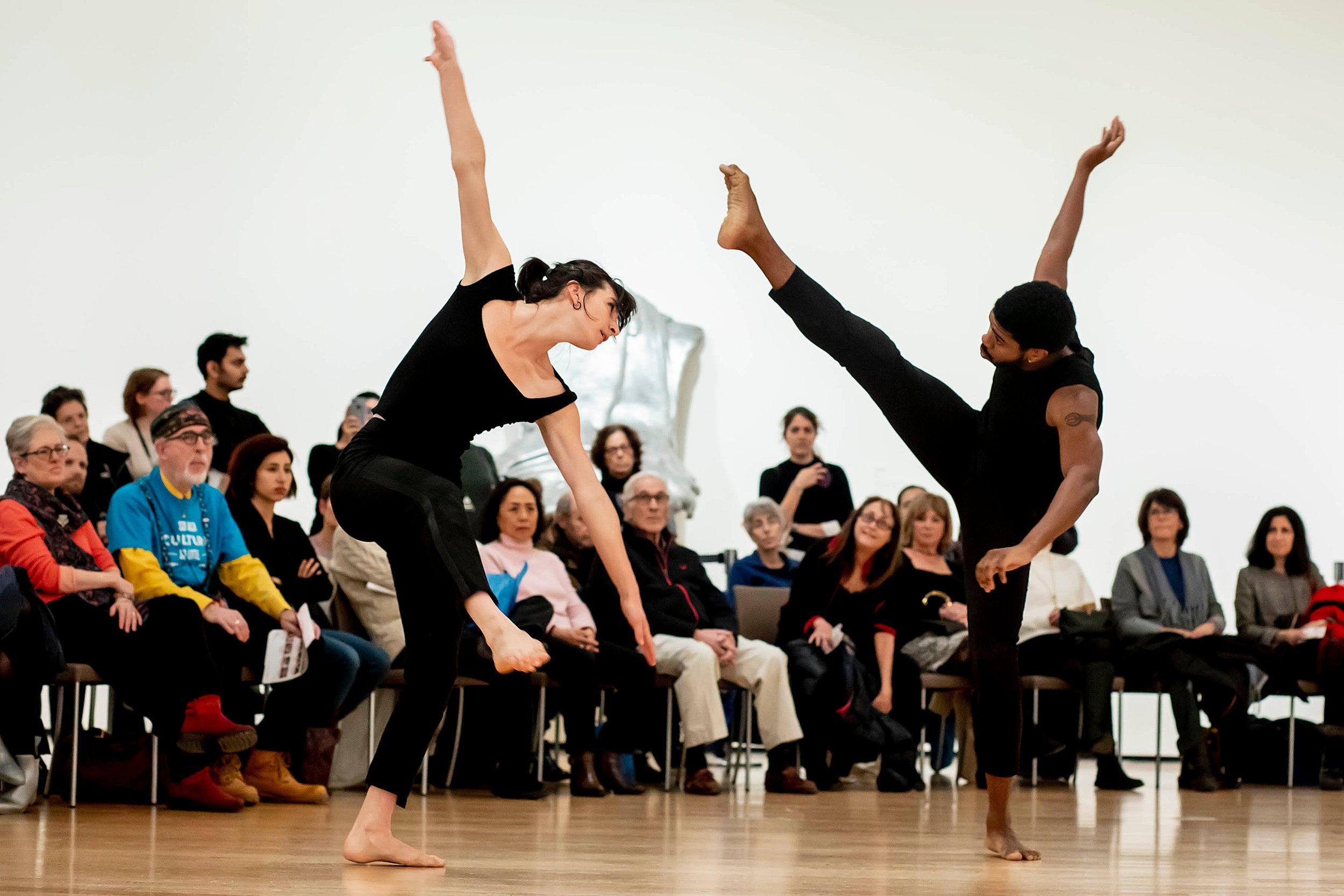 People dancing.