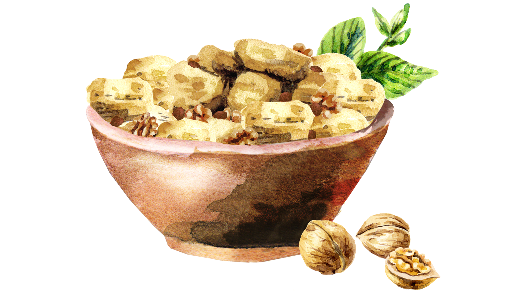 Illustration of a bowl of dressing.