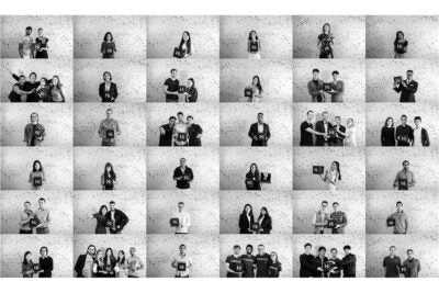 Collage of portraits.