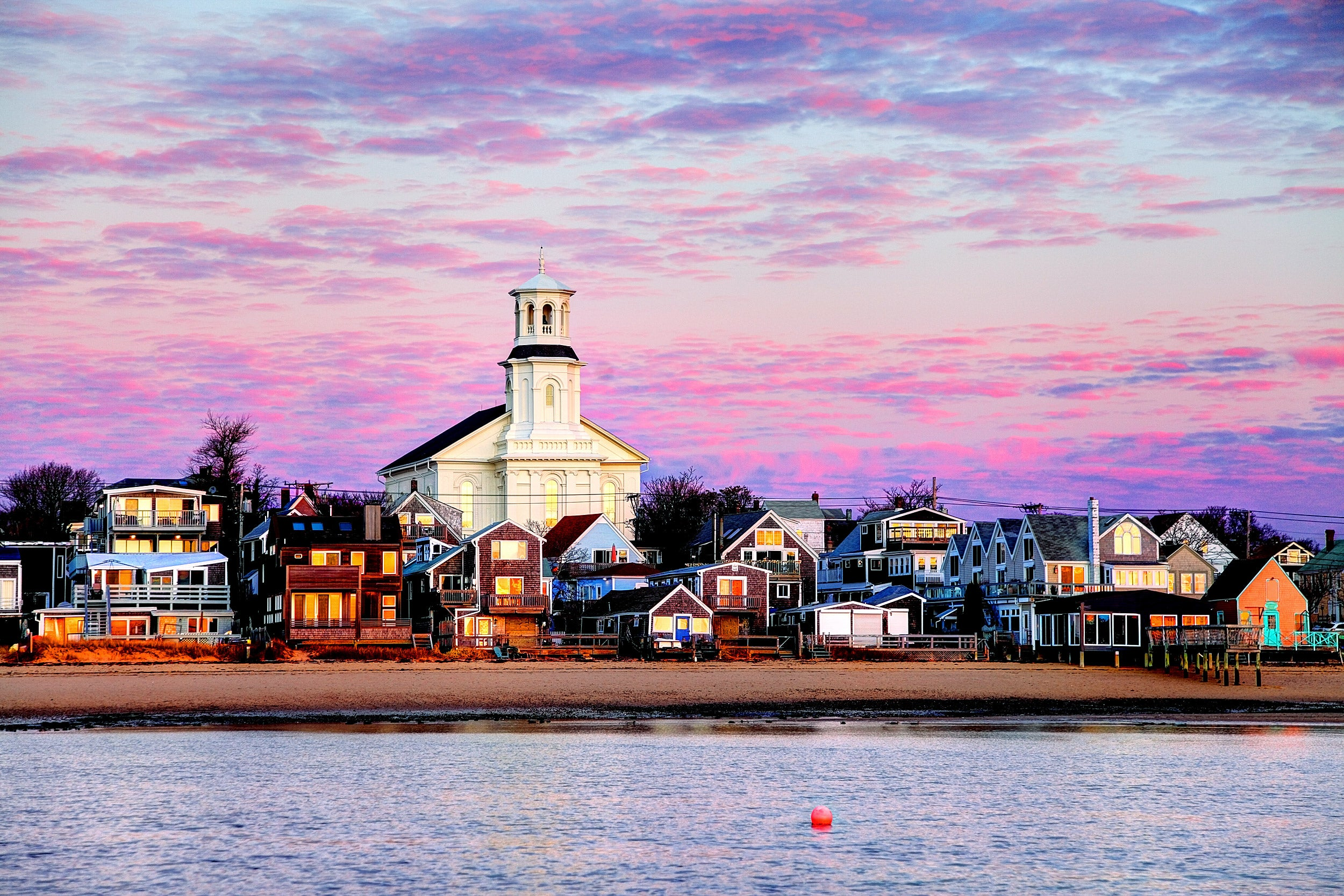 Sunset in Provincetown.