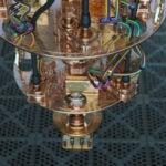 A close up view of a quantum computer.
