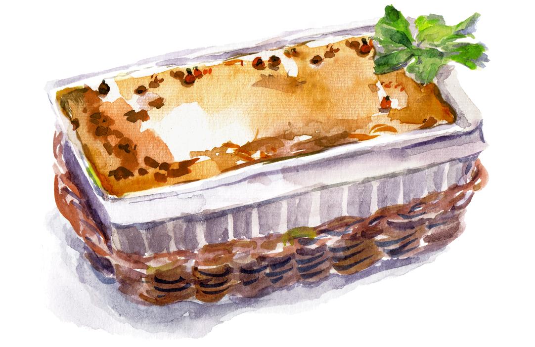 Illustration of casserole.