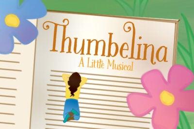 Illustration with Thumbelina.
