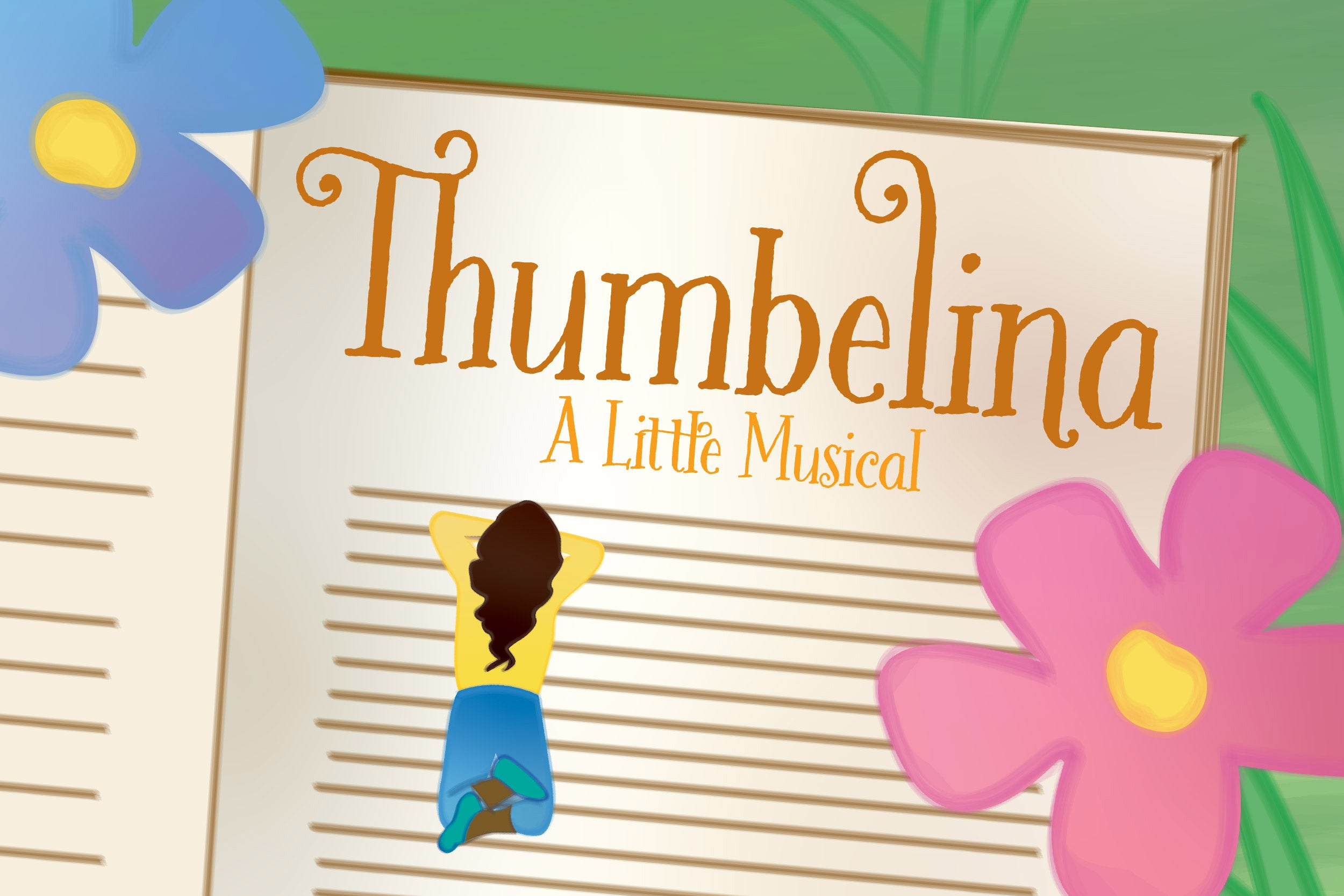 Illustration with Thumbelina.