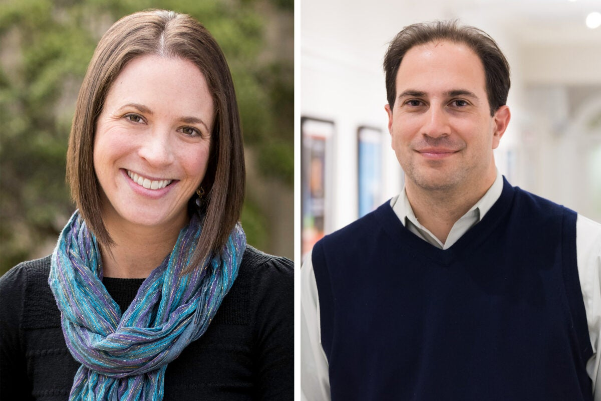 Headshots of two researchers.