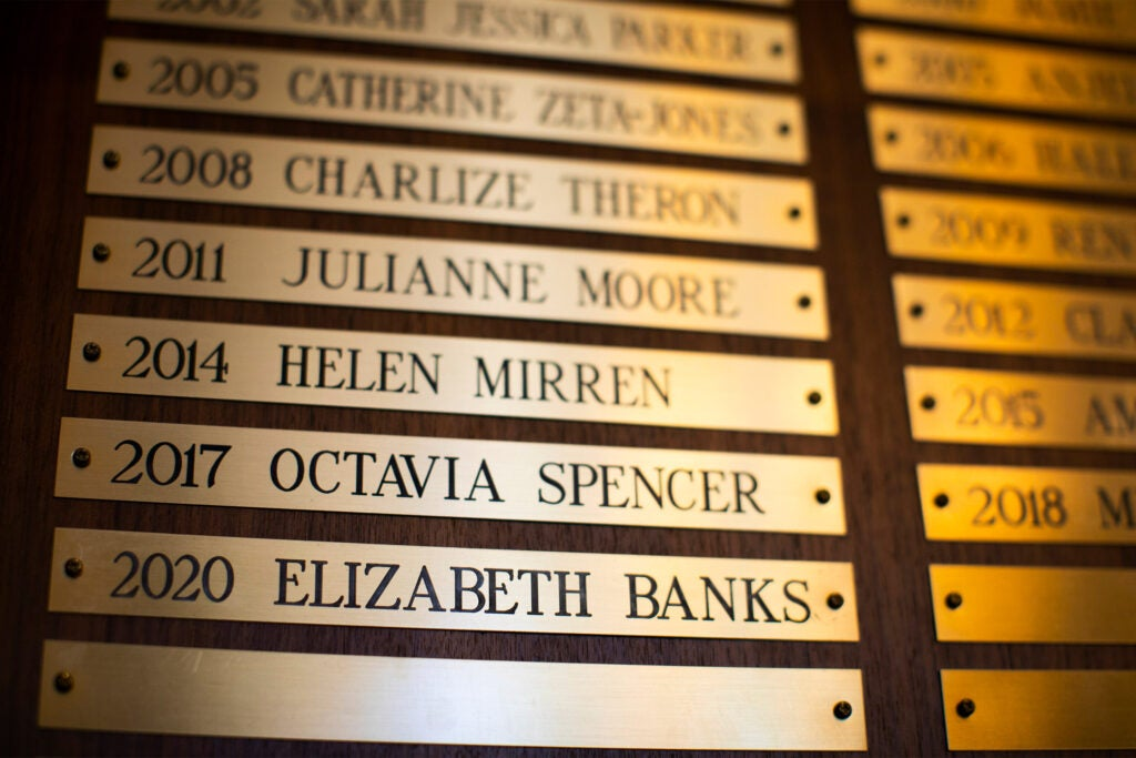 Names of past Hasty Woman of the Year recipients.